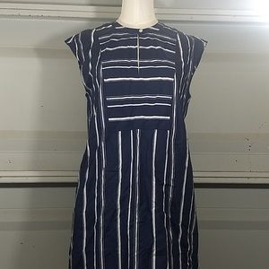 85db0dcdcfc J. Crew Tops | Jcrew Easy Tunic Dress In Striped Poplin Xs | Poshmark